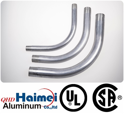 "3-1/2""UL Approved electrical rigid aluminum conduit elbows 90 degree"