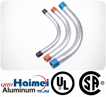 UL listed rigid aluminum electrical conduit elbow