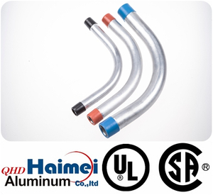 "3""UL Approved electrical rigid aluminum conduit elbows 90 degree"